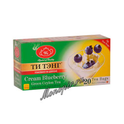 Чай Ти Тэнг зеленый голубика со сливками в пакетиках