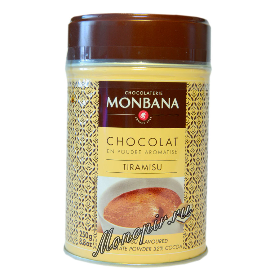 Горячий шоколад Monbana Тирамису 250 гр