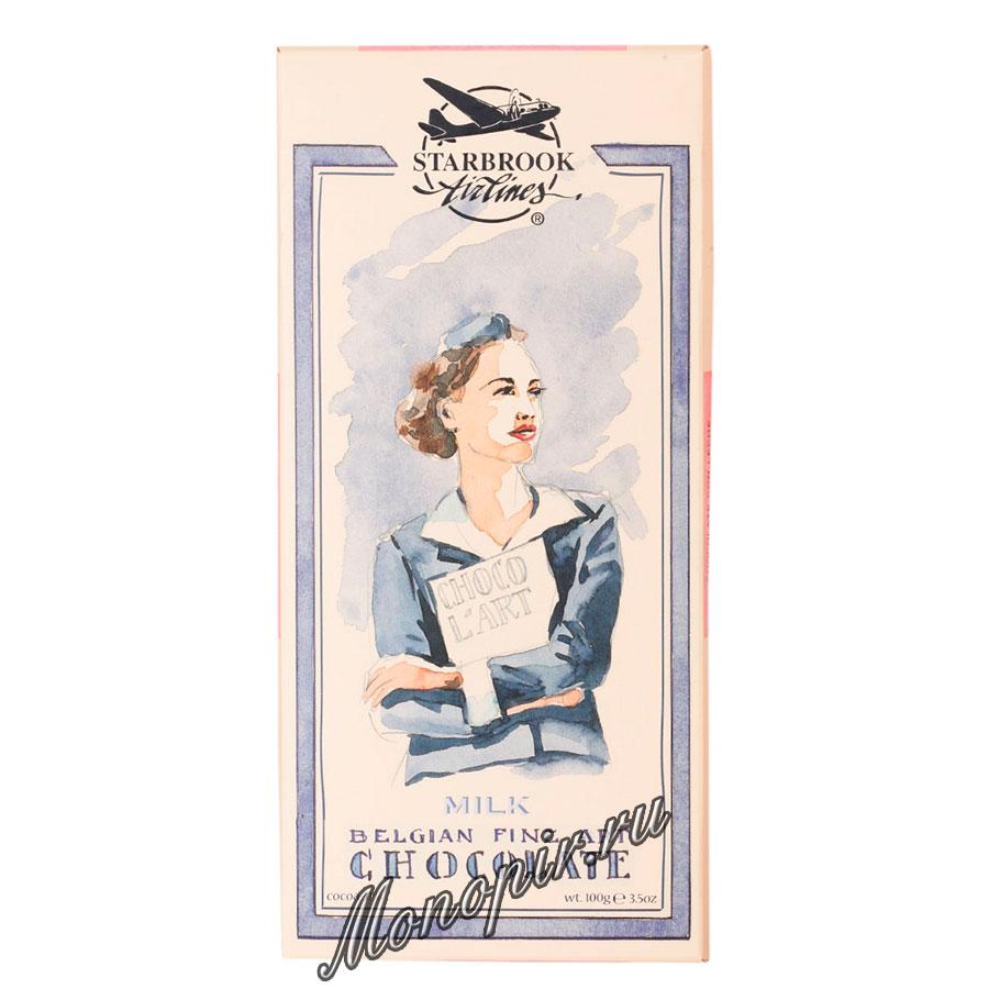 Шоколад Belgian Starbrook airlines молочный 100 гр