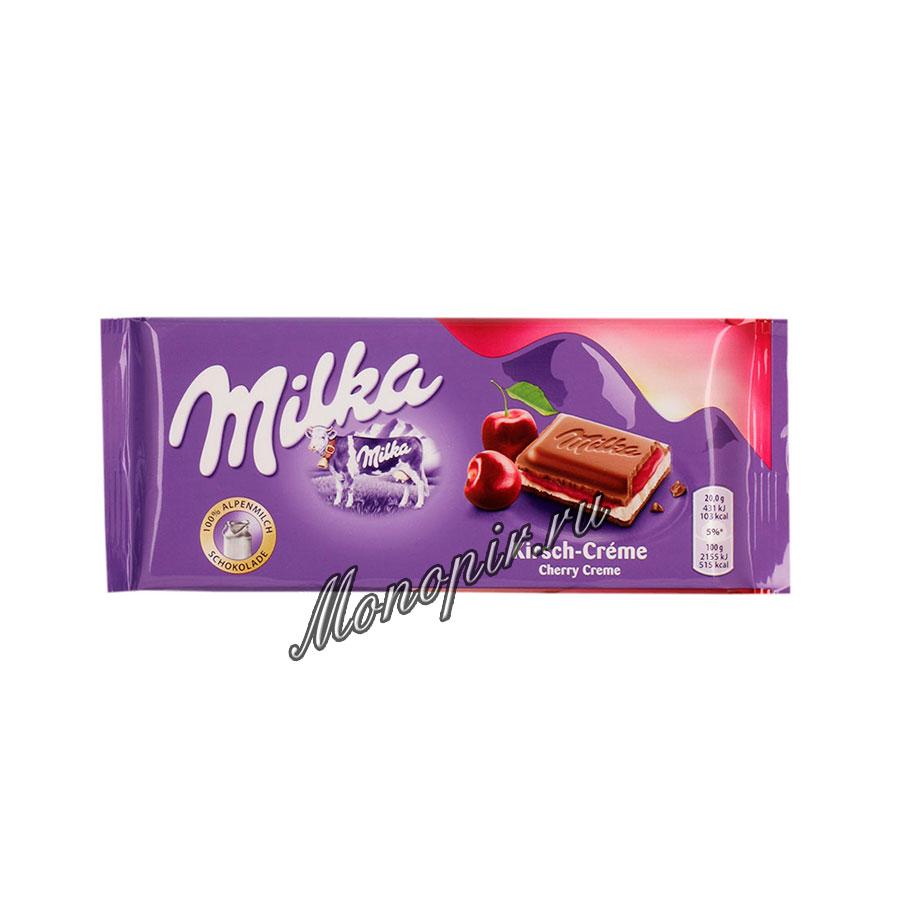 Шоколад Milka Cherry Cream 100 гр