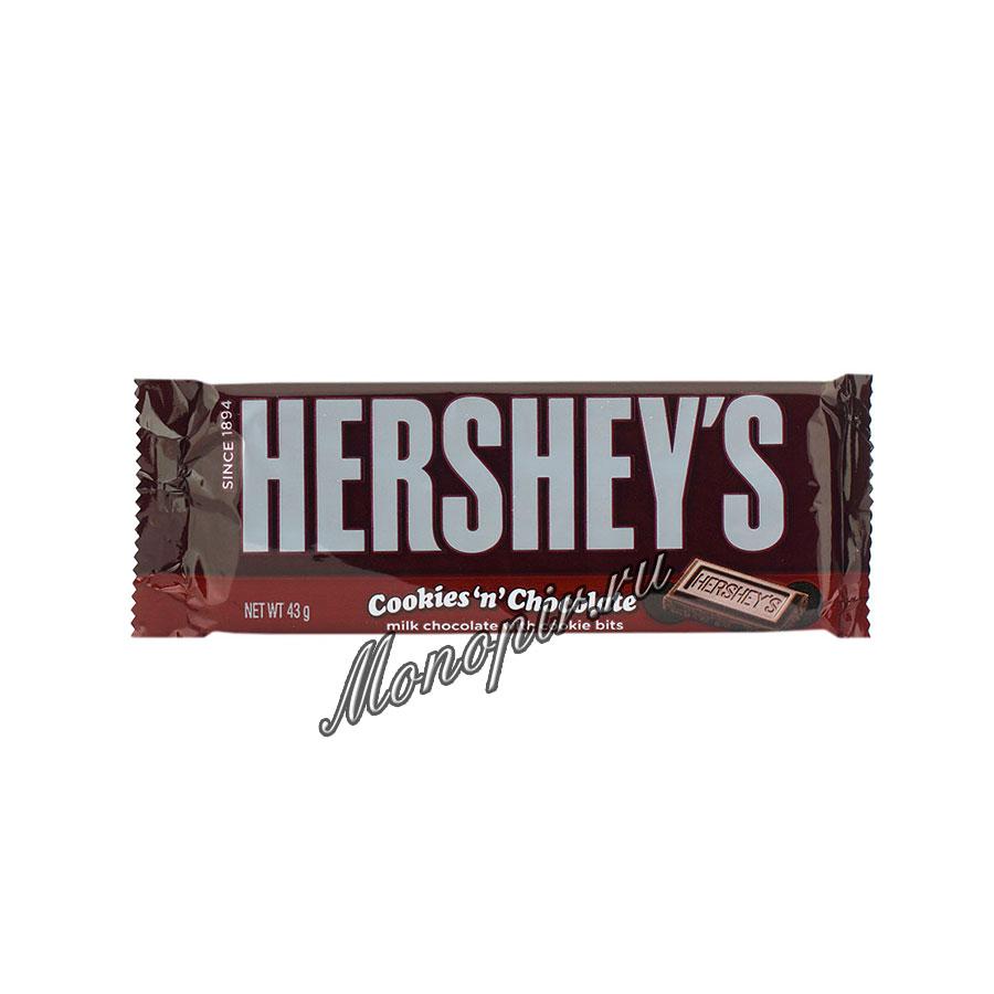Шоколад Hersheys Cookies chocolate 43 гр