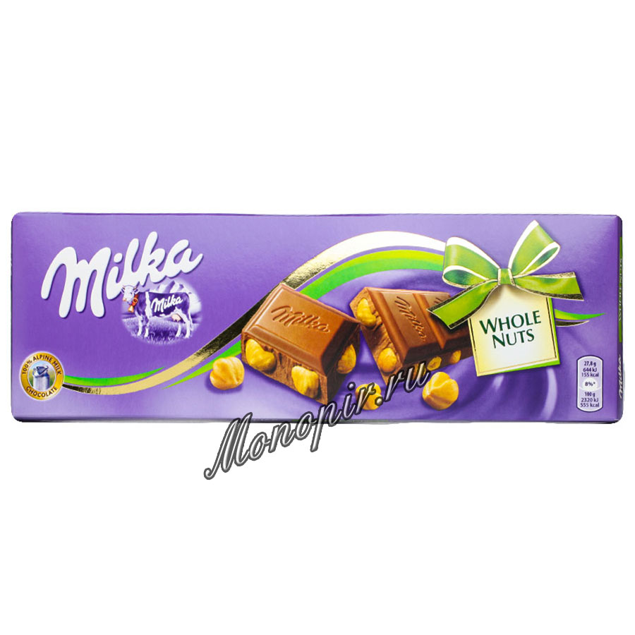 Шоколад Milka Whole Hazelnuts 250 гр