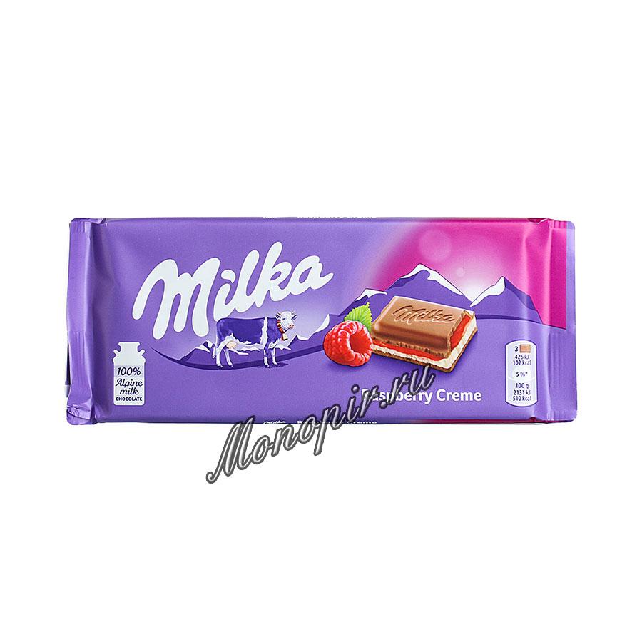 Шоколад Milka Raspberry Cream 100 гр