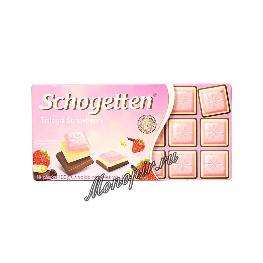 Шоколад Schogetten Trilogia Strawberry 100 гр