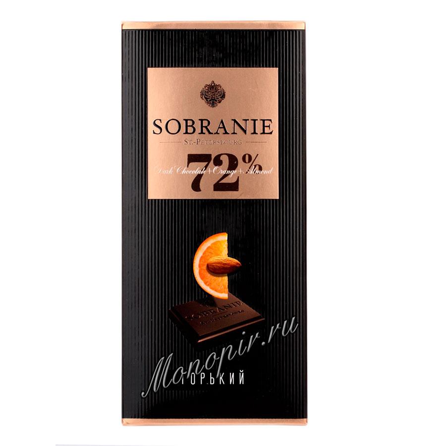 Шоколад Sobranie Горький апельсин с миндалем 90 гр