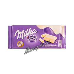 Шоколад Milka белый шоколад 100 гр
