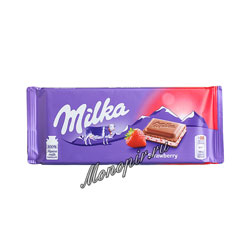 Шоколад Milka Strawberry 100 гр