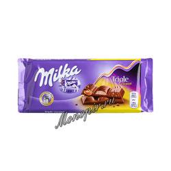 Шоколад Milka Triple Caramel 90 гр