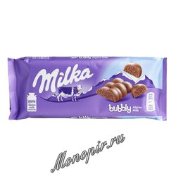 Шоколад Milka Bubbly Milk 90 гр