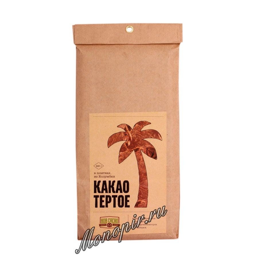 Бритарев какао тертое в плитках 220 гр