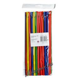 Трубочка-мешалка со сгибом L=24см [50шт]; D=7,H=240,L=140,B=15мм; разноцветные