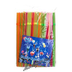 Трубочки со сгибом неоновые [250шт]; D=5,L=240мм; разноцветные
