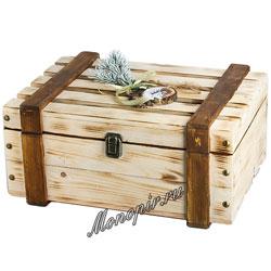 Подарочный набор в деревянном ящичке кофемолка Zeidan