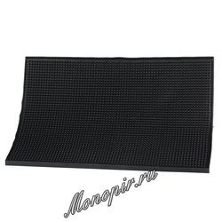 Барный Коврик резиновый 30*45*1 черный (10246)