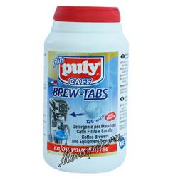 Средство для чистки всех типов брюеров фильтровальных кофеварок и термосов-накопителей в таблетках PULY CAFF BREW TABS , 120 шт.х4г