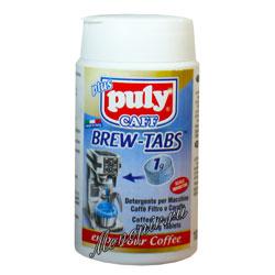Средство для чистки всех типов брюеров, фильтровальных кофеварок и термосов-накопителей в таблетках Puly Caff Brew Tabs 100 шт.х1 г