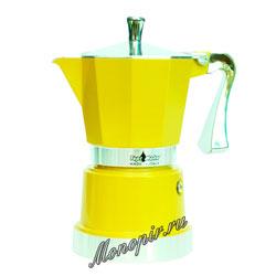 Гейзерная кофеварка Top Moka Caffettiera Super Top 3 порции (120 мл) золотой