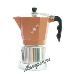 Гейзерная кофеварка Top Moka Caffettiera Top 6 порции (240 мл) медный argento