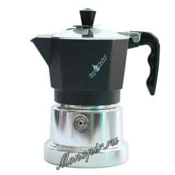 Гейзерная кофеварка Top Moka Caffettiera Top 6 порции (240 мл) черный argento