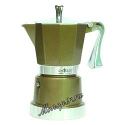 Гейзерная кофеварка Top Moka Caffettiera Super Top 3 порции (120 мл) бронзовый