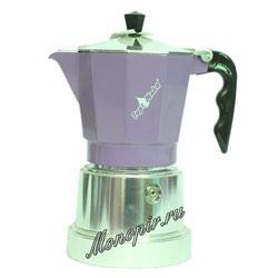 Гейзерная кофеварка Top Moka Caffettiera Top 3 порции (120 мл) сиреневый argento