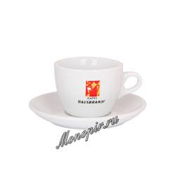 Чашка и блюдце Hausbrandt для капучино