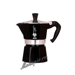 Гейзерная кофеварка Bialetti Moka Expresso на 3 порции 120 мл черная