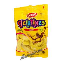 Мармелад Docile Gelatines Банан со вкусом банана 80 гр