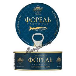 Гурмения Форель радужная в собственном соку 240 гр