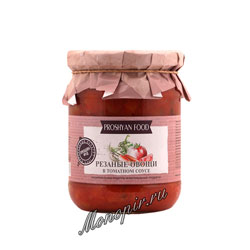 Прошян Фуд Резаные овощи в томатном соусе 500 гр