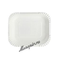Бумажные тарелки 16х19 Прямоугольная, глубокая 50 шт