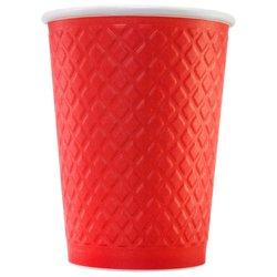 Стакан Двухслойный. Waffle Red 300 мл (25 шт)