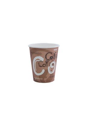 Стакан бумажный однослойный 100 мл Кофе