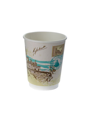 Стакан бумажный ThermoCup двухслойный 250 мл Города России